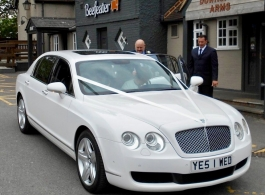 White Bentley Spur for wedding hire in Watford